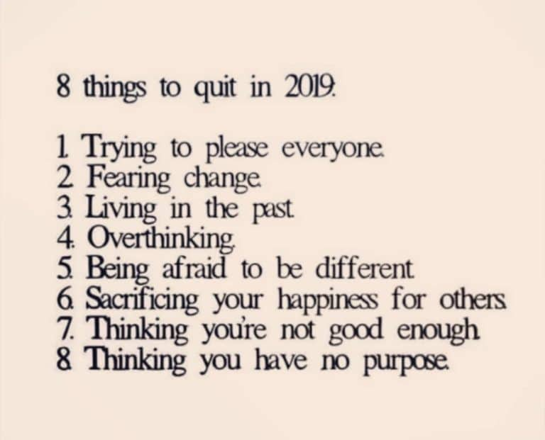 8 Things to Quit in 2019